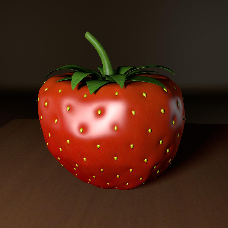 strawberry 3d model blend obj 139429
