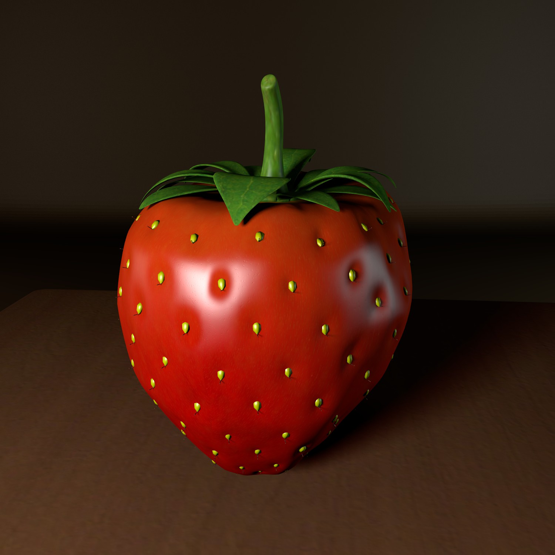 strawberry 3d model blend obj 139430