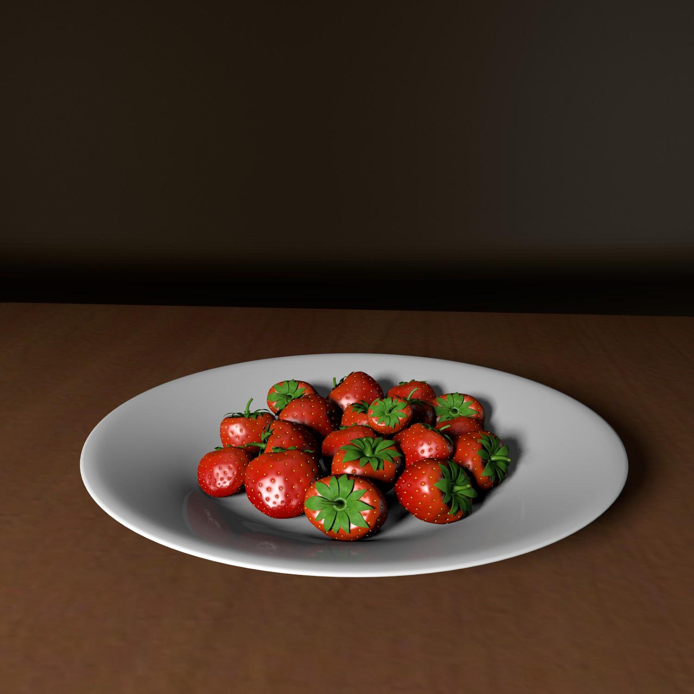 strawberry 3d model blend obj 139431