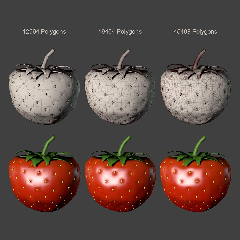 strawberry 3d model blend obj 139432
