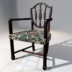 3D Model Antique Dining Chair ( 118.03KB jpg by forestdino )