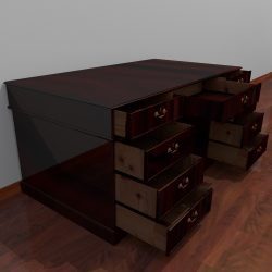 3D Model Dark Wood Desk ( 356.37KB jpg by forestdino )