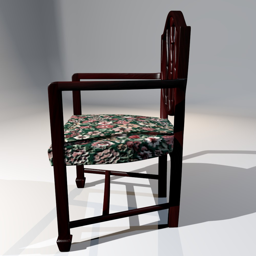 antique dining chair 3d model fbx blend dae obj 117508
