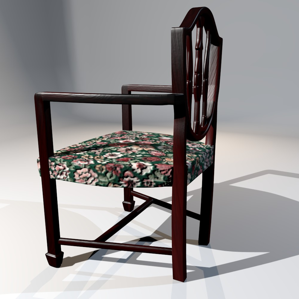 antique dining chair 3d model fbx blend dae obj 117509