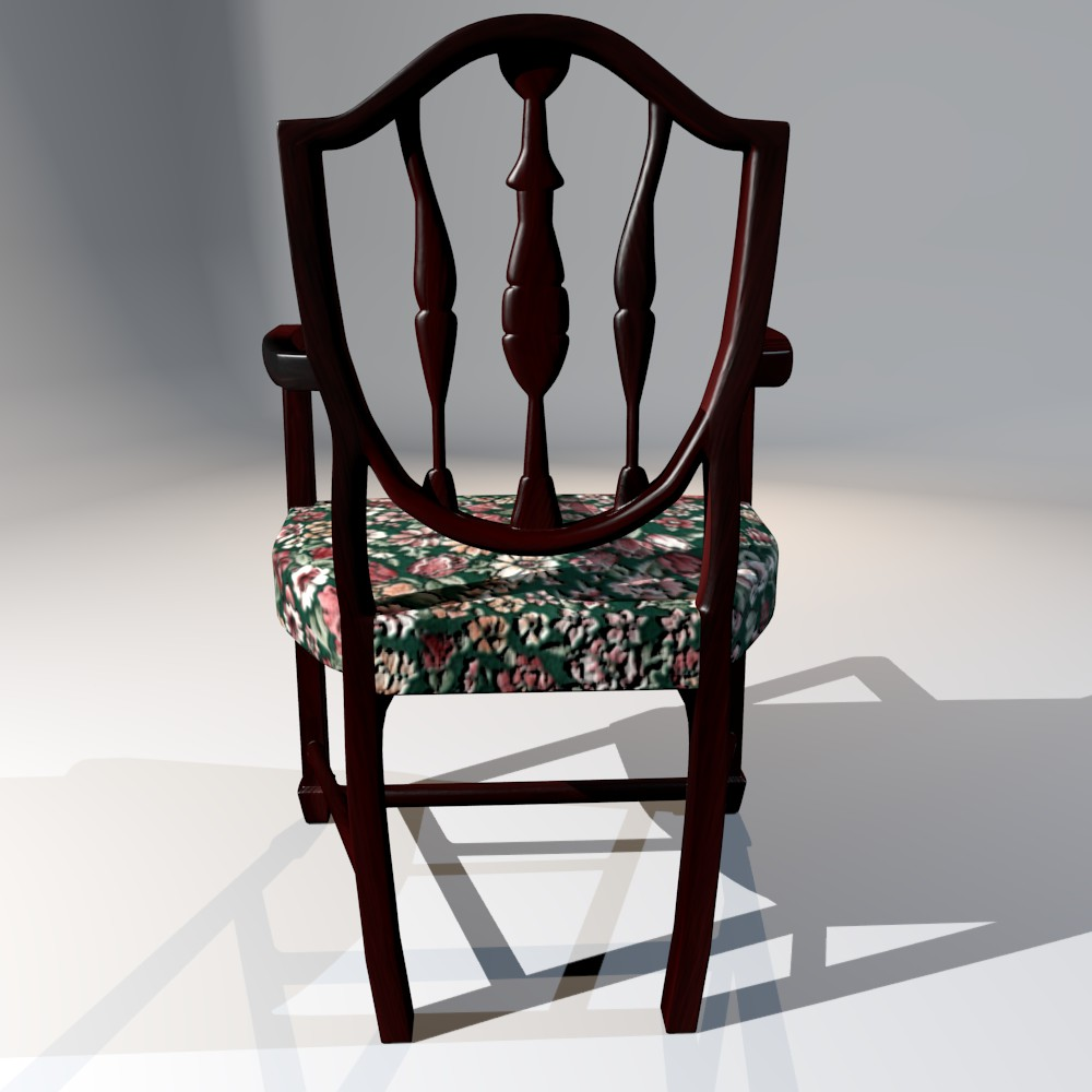antique dining chair 3d model fbx blend dae obj 117510