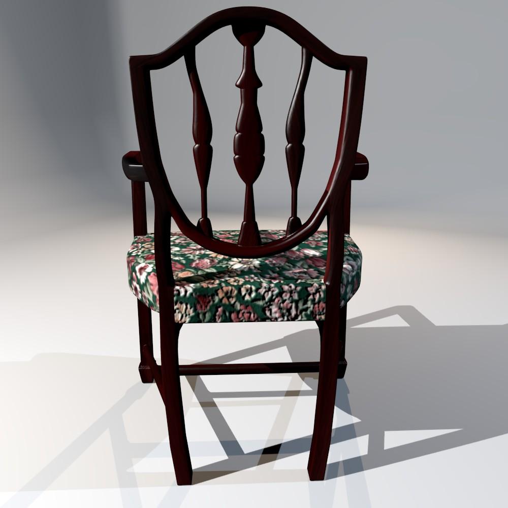 antička blagovaona stolica 3d model fbx mješavina dae obj 117510
