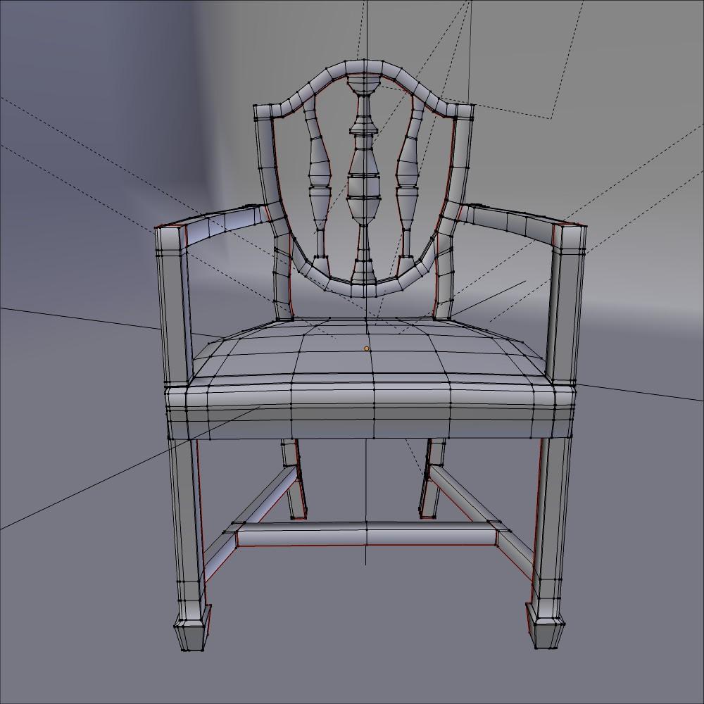antička blagovaona stolica 3d model fbx mješavina dae obj 117511