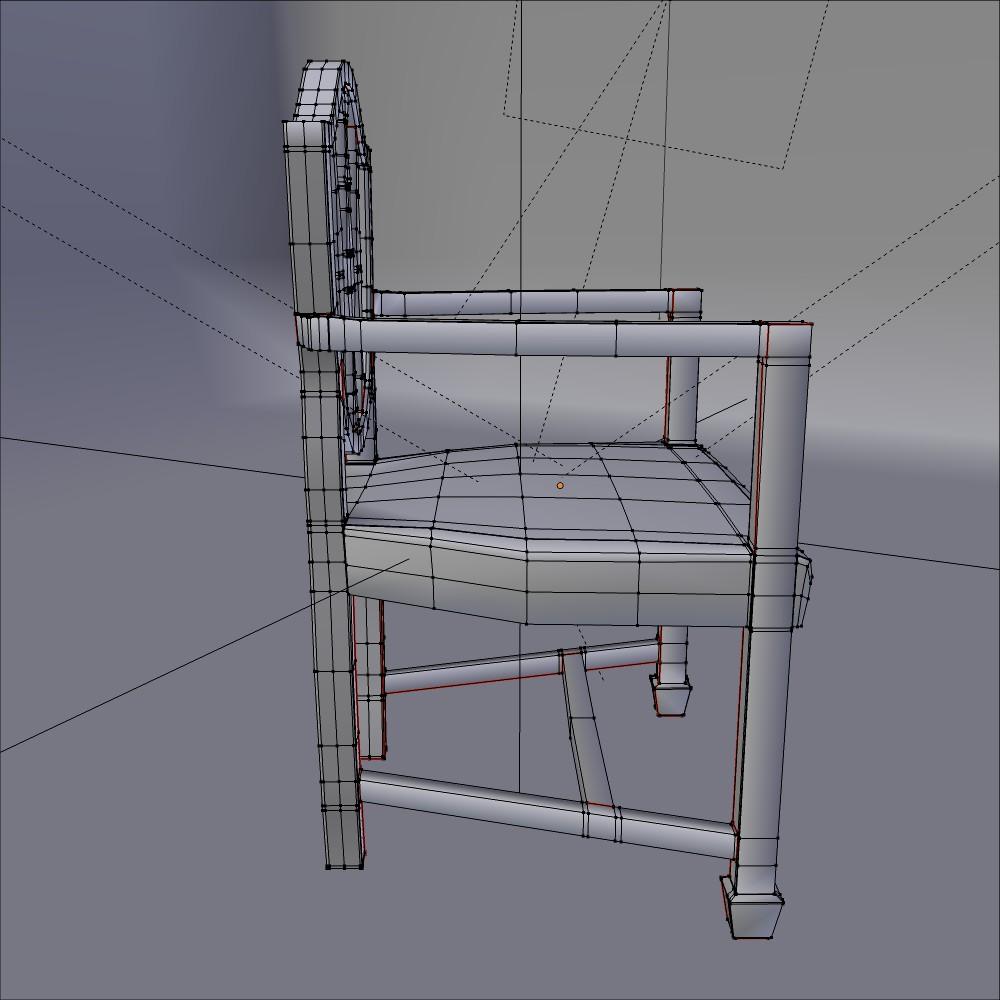antik yemək kafedrası 3d model fbx qarışığı daim obj 117512