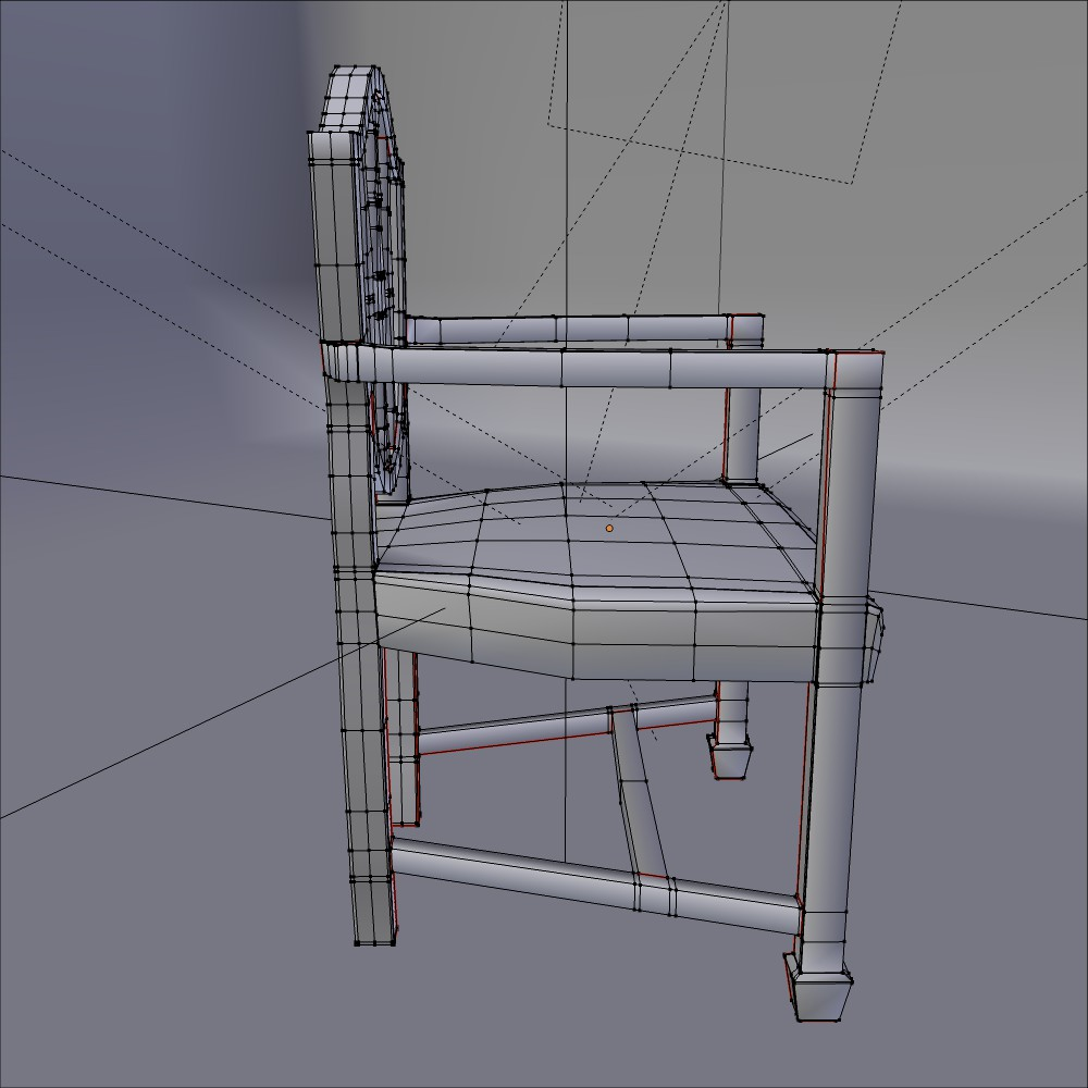 antička blagovaona stolica 3d model fbx mješavina dae obj 117512