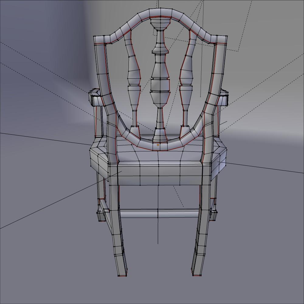 antička blagovaona stolica 3d model fbx mješavina dae obj 117513