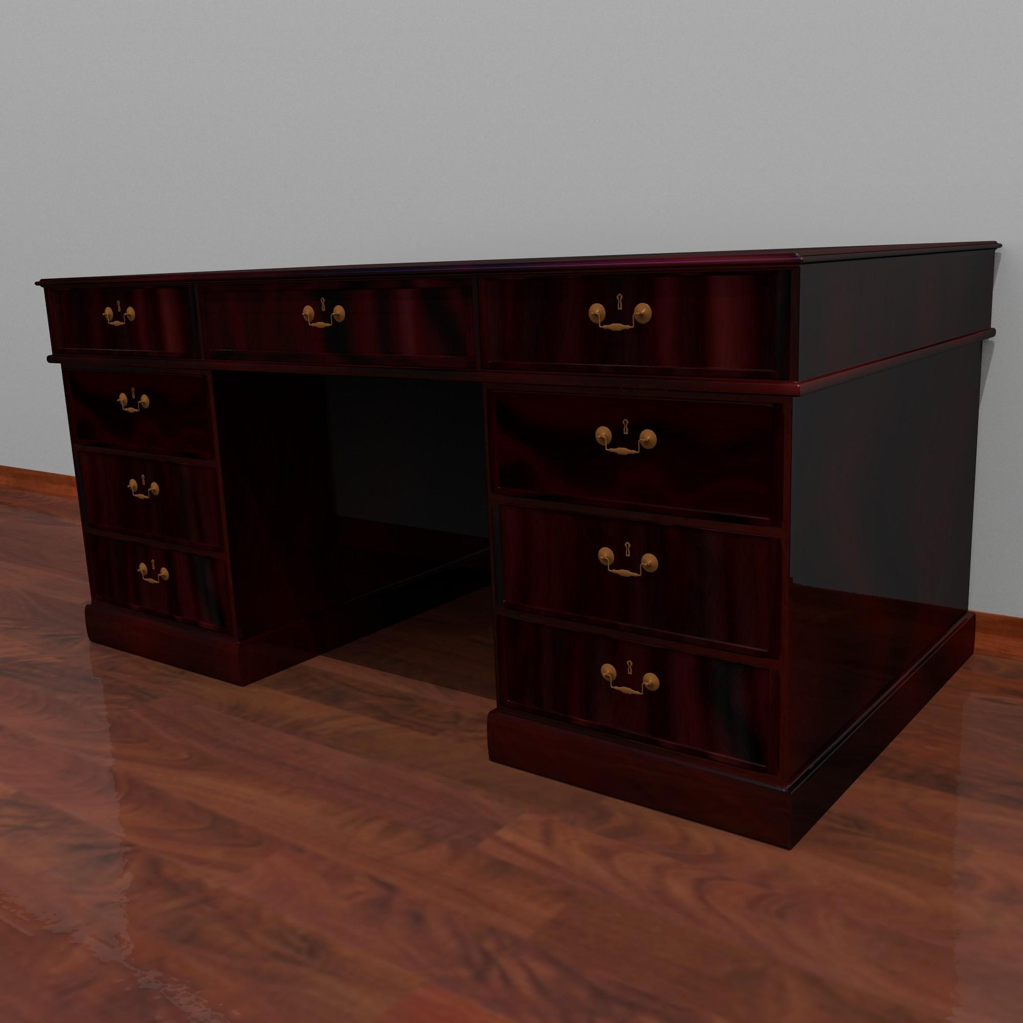 tumšs koka galds 3d modelis fbx maisījums dae obj 117673