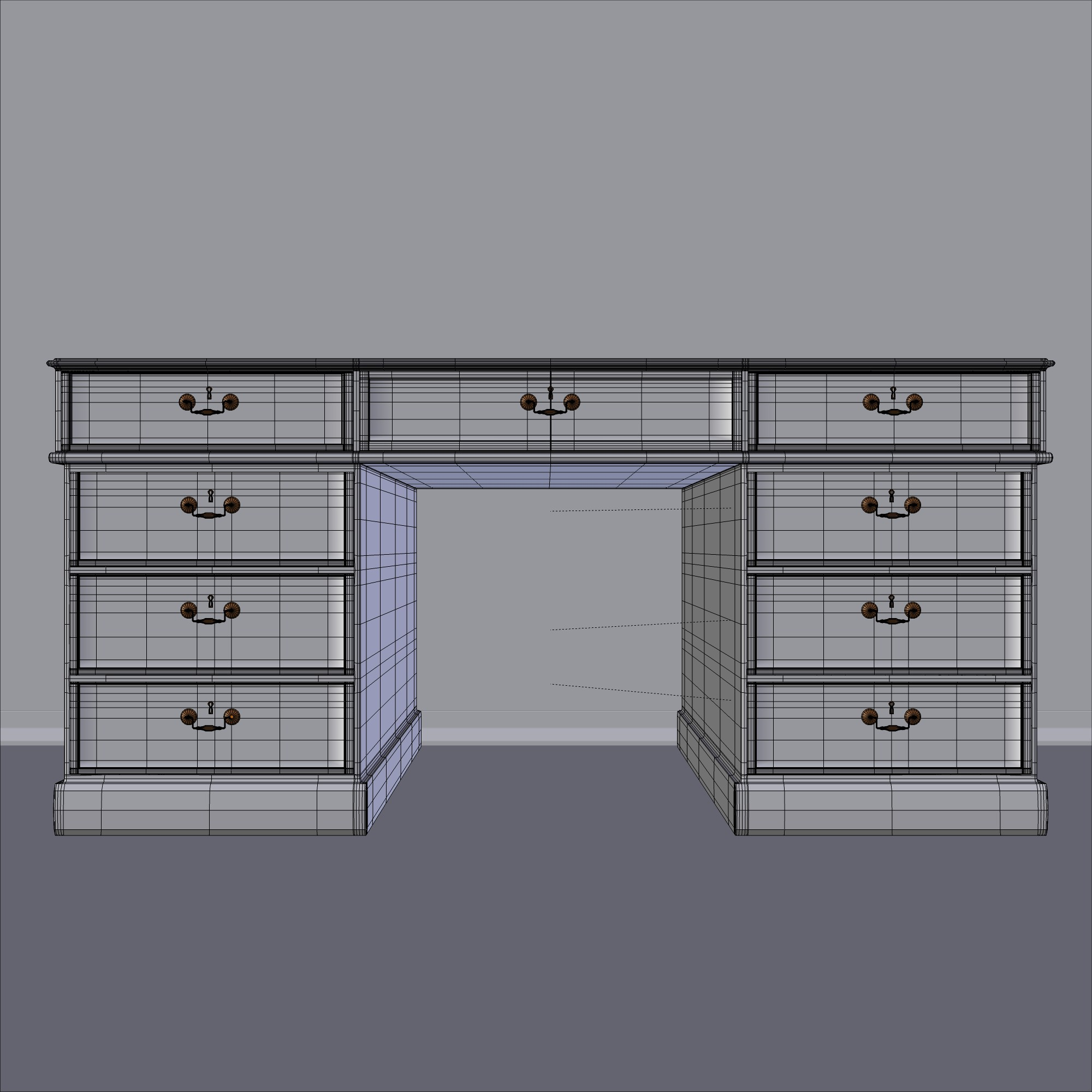 tumšs koka galds 3d modelis fbx maisījums dae obj 117675