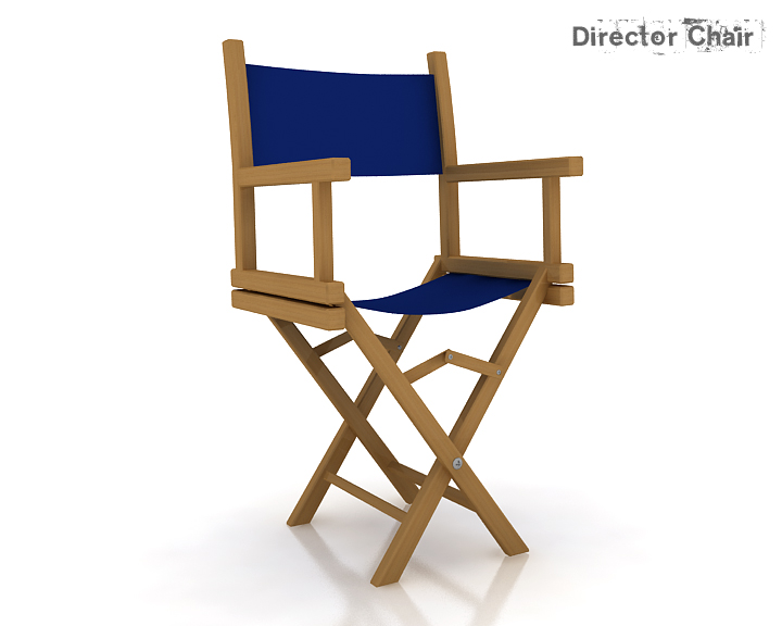 director chair 3d model 3ds max obj 115368