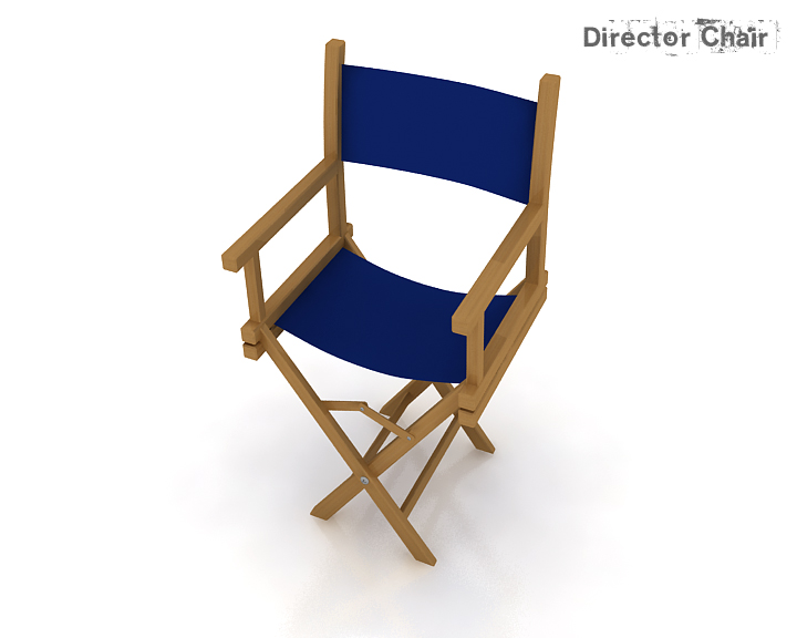 director chair 3d model 3ds max obj 115369
