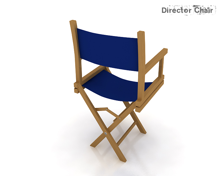 director chair 3d model 3ds max obj 115370