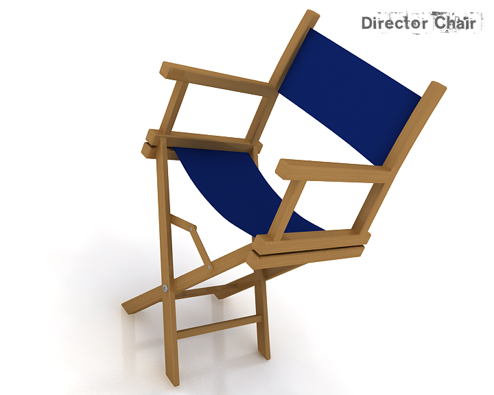 director chair 3d model 3ds max obj 115372