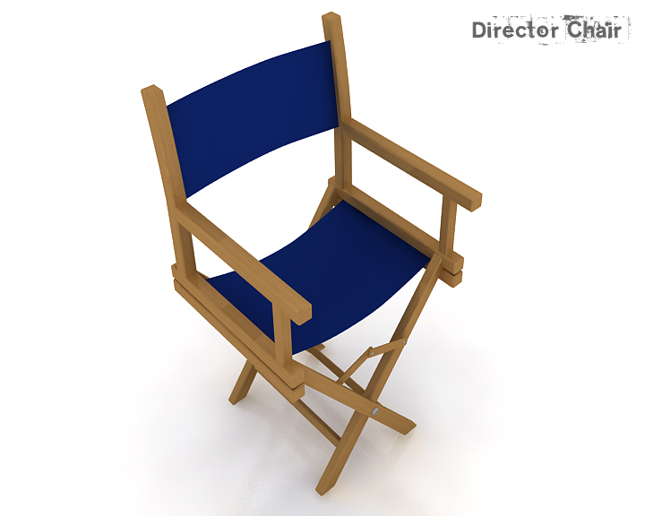 director chair 3d model 3ds max obj 115373