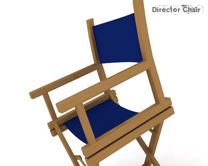 director chair 3d model 3ds max obj 115374