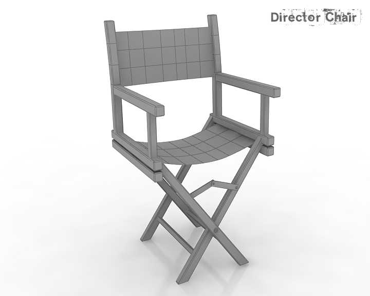 director chair 3d model 3ds max obj 115375