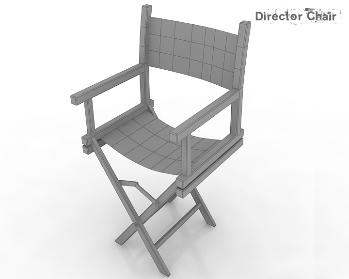 director chair 3d model 3ds max obj 115376