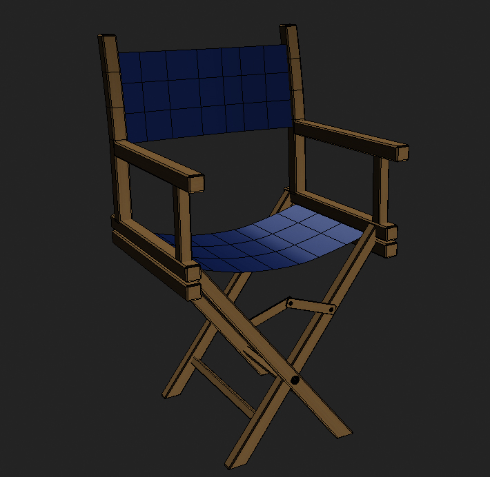 director chair 3d model 3ds max obj 115377