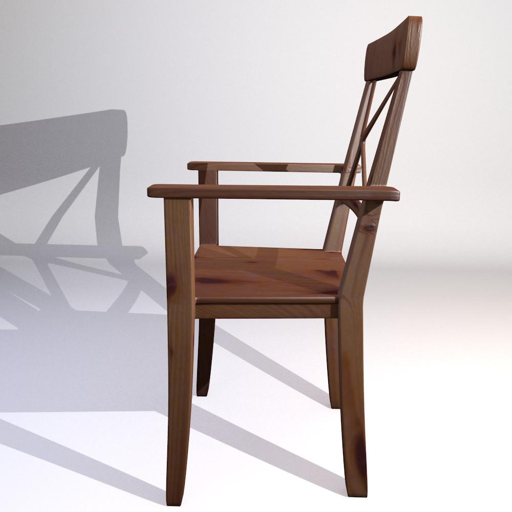3D model Ikea kitchen chaie Ingolf