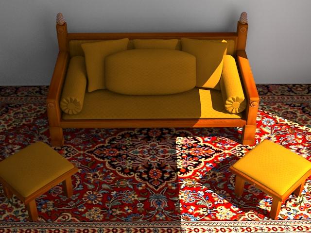 indoor wooden sofa 3d model max 116051
