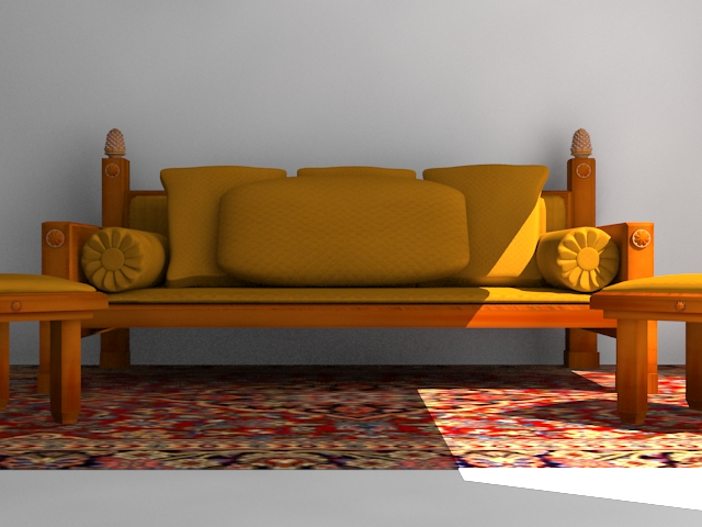 indoor wooden sofa 3d model max 116052