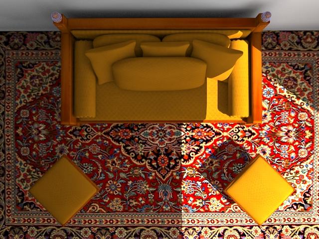 indoor wooden sofa 3d model max 116053