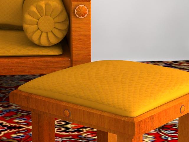 indoor wooden sofa 3d model max 116054