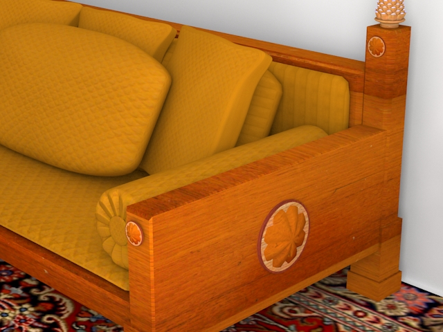 indoor wooden sofa 3d model max 116055