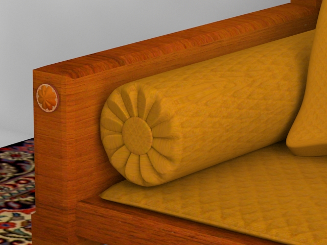 indoor wooden sofa 3d model max 116057