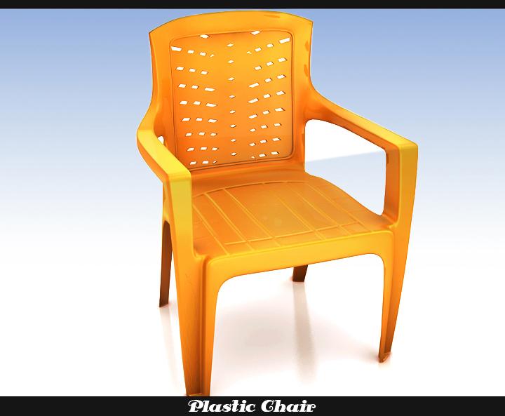 plastic chair 3d model 3ds max fbx obj 116763