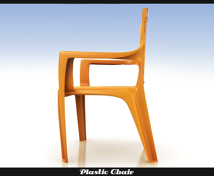 plastic chair 3d model 3ds max fbx obj 116764