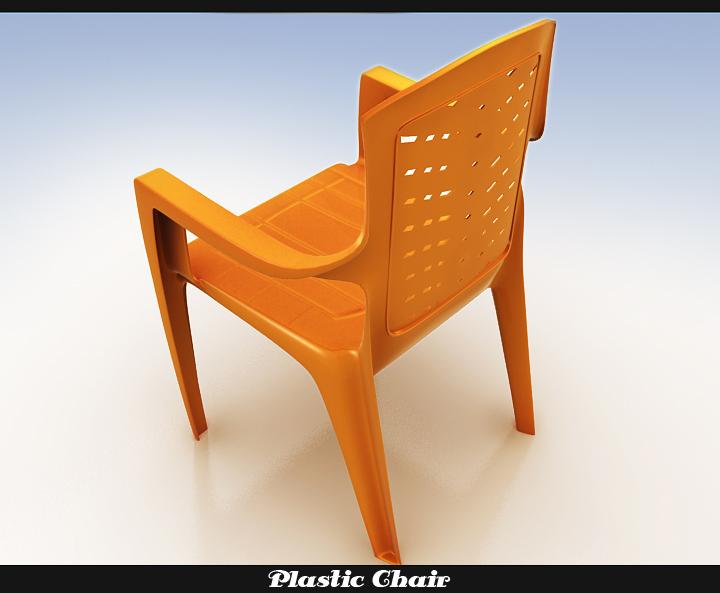 plastic chair 3d model 3ds max fbx obj 116767