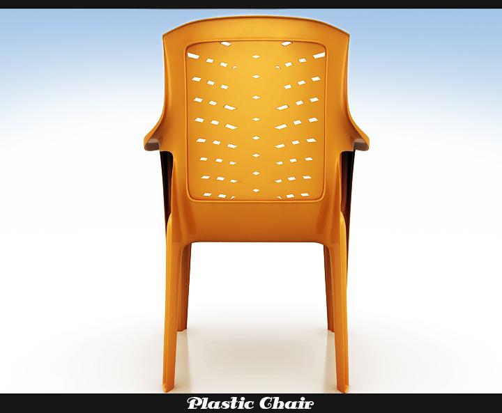 plastic chair 3d model 3ds max fbx obj 116768