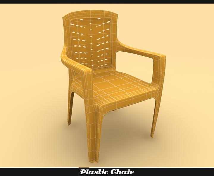 plastic chair 3d model 3ds max fbx obj 116770