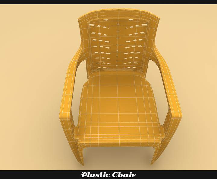 plastic chair 3d model 3ds max fbx obj 116771