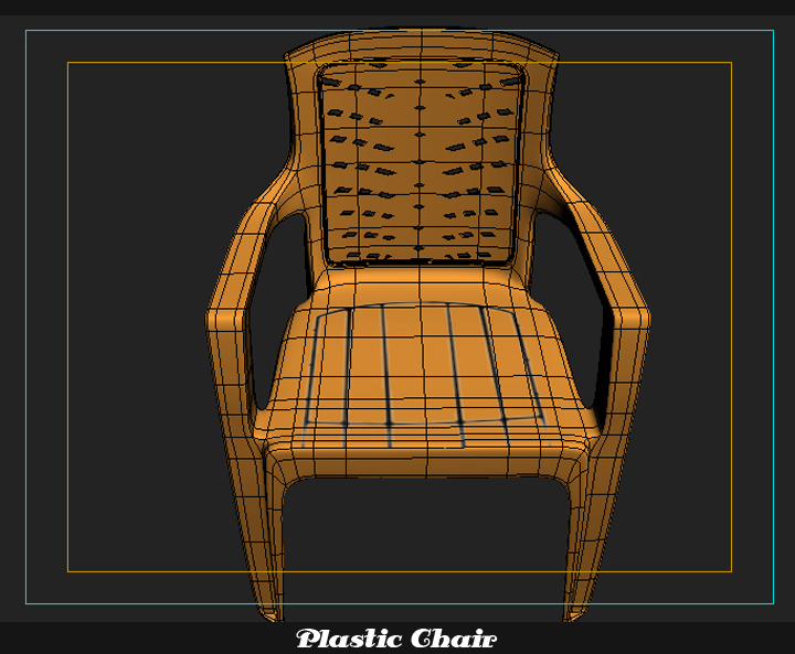 plastic chair 3d model 3ds max fbx obj 116772