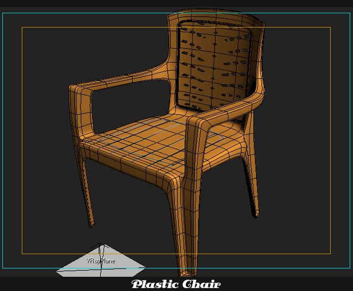 plastic chair 3d model 3ds max fbx obj 116773