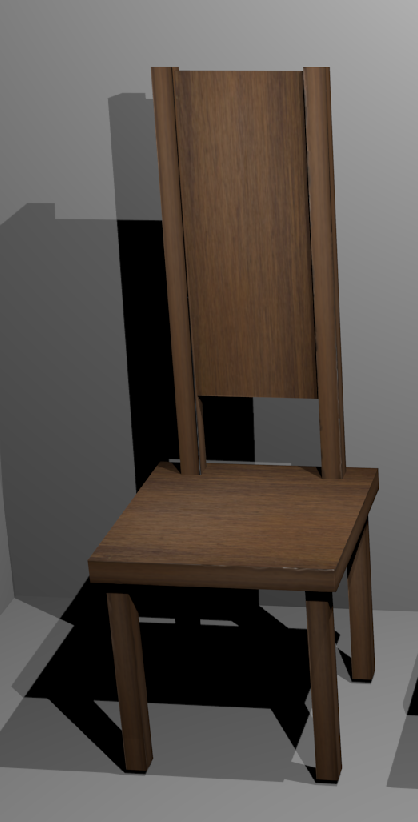 simple chair with uv image 3d model 117440