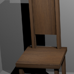 Simple Chair with uv image ( 135.75KB png by mcavady )