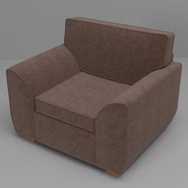sofa & armchair set 3d model 3ds fbx skp obj 116985