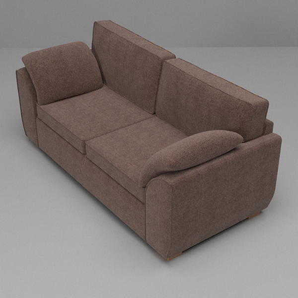 sofa & armchair set 3d model 3ds fbx skp obj 116986