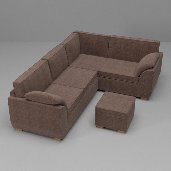 sófi og armchair sett 3d líkan 3ds fbx skp obj 116987