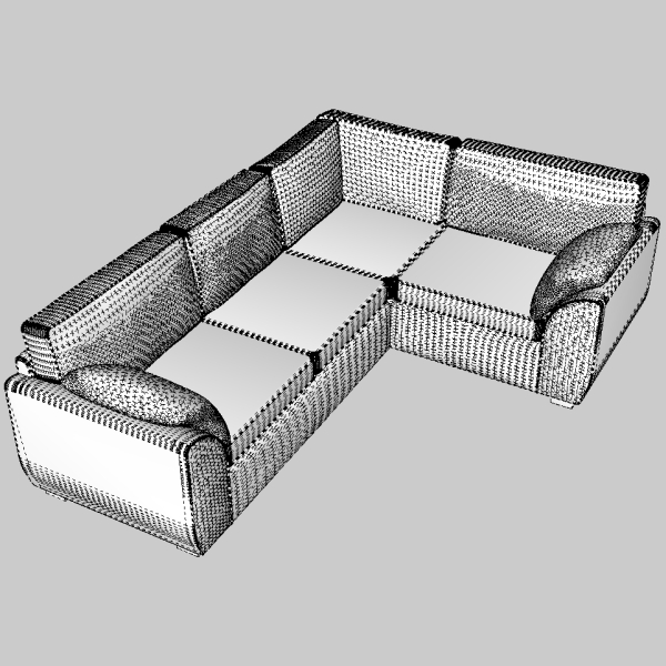 sofa & armchair set 3d model 3ds fbx skp obj 116989