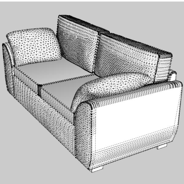 sófi og armchair sett 3d líkan 3ds fbx skp obj 116990