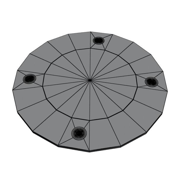 10 halogen lampanın toplanması 3d model 3ds max dwg obj 134740