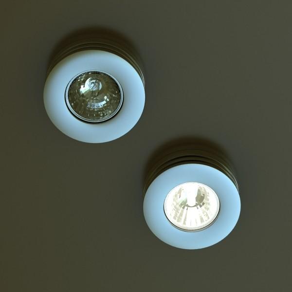 10 halogen lampanın toplanması 3d model 3ds max dwg obj 134745