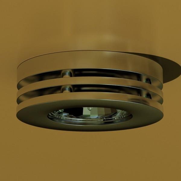 10 halogen lampanın toplanması 3d model 3ds max dwg obj 134747